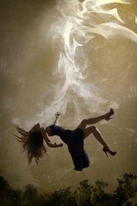 Girl falling