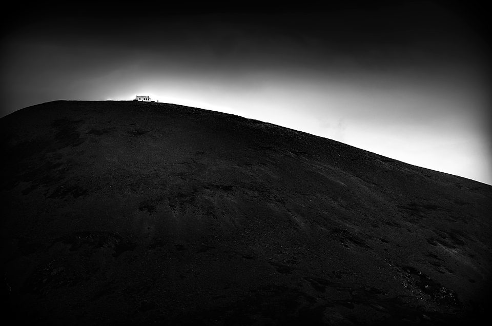 Pilgrim on the Summit of Croagh Patrick