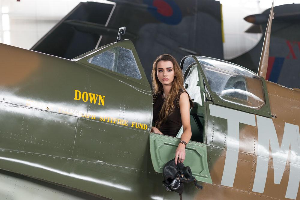 Lauren in a Spitfire