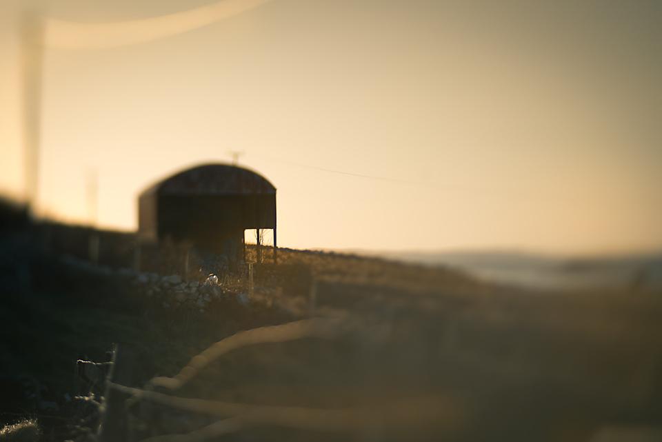 A barn in the sunshine