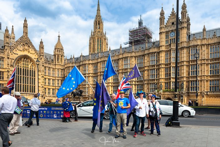 SODEM demonstraters outside the Houses of parliament