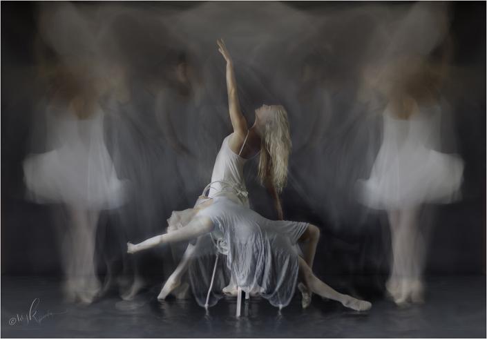 blurred dancers