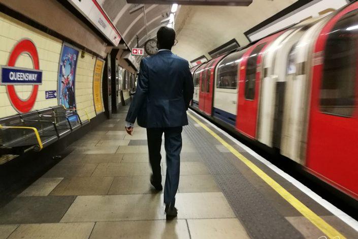Tube station in London