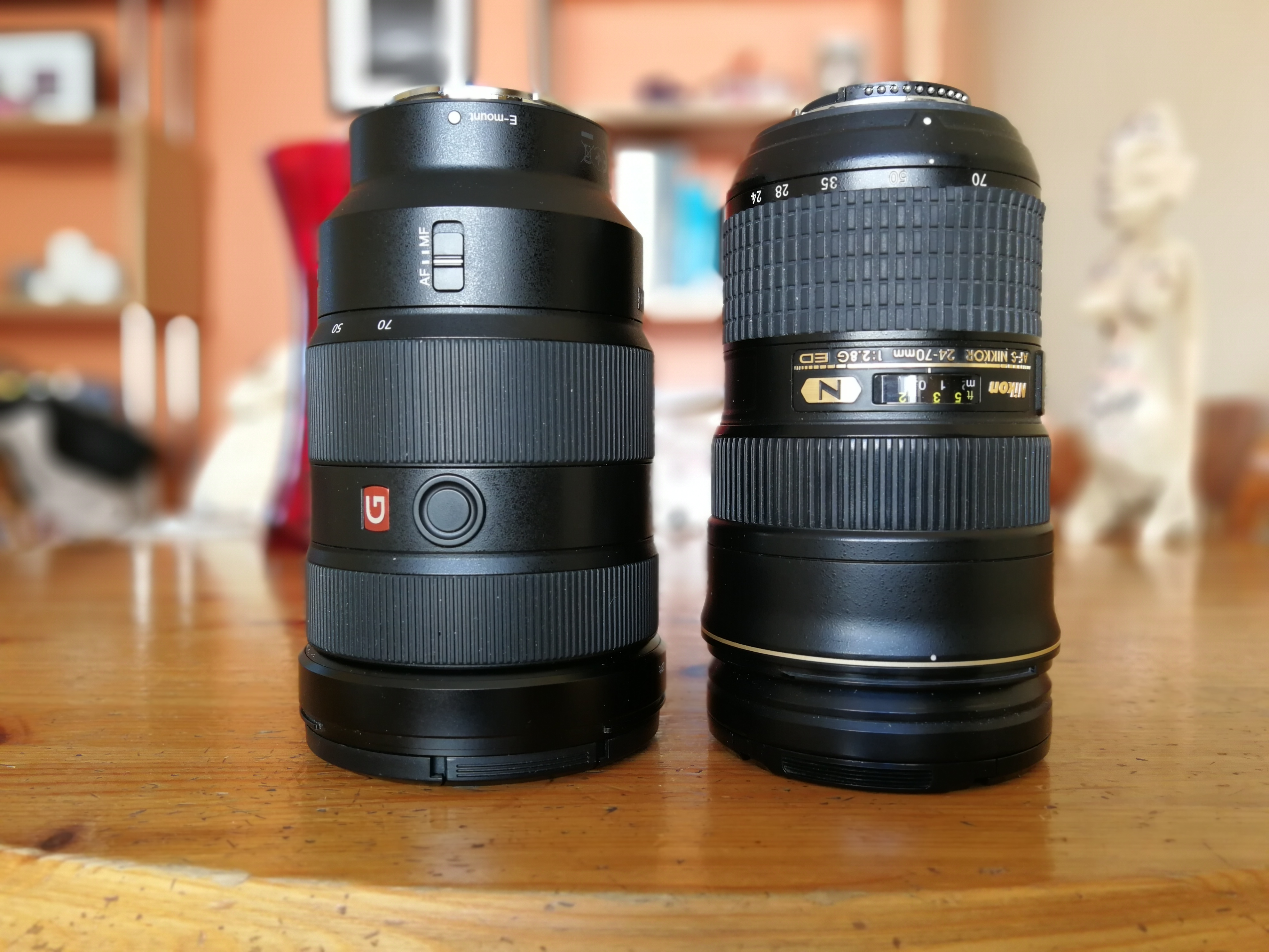Sony and Nikon 24-70 f2.8 lenses