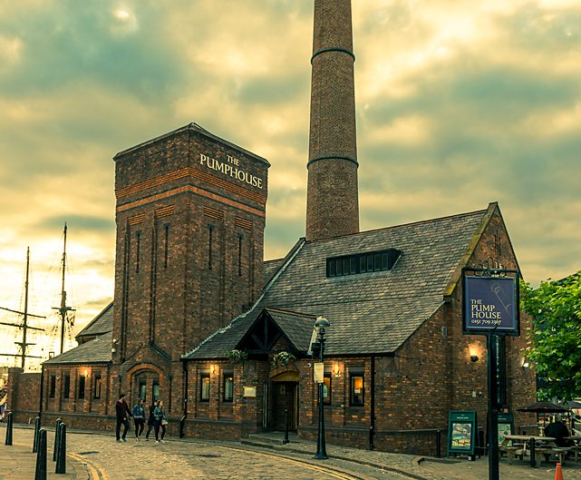 Old Pumphouse at Albert Dock, Liverpool