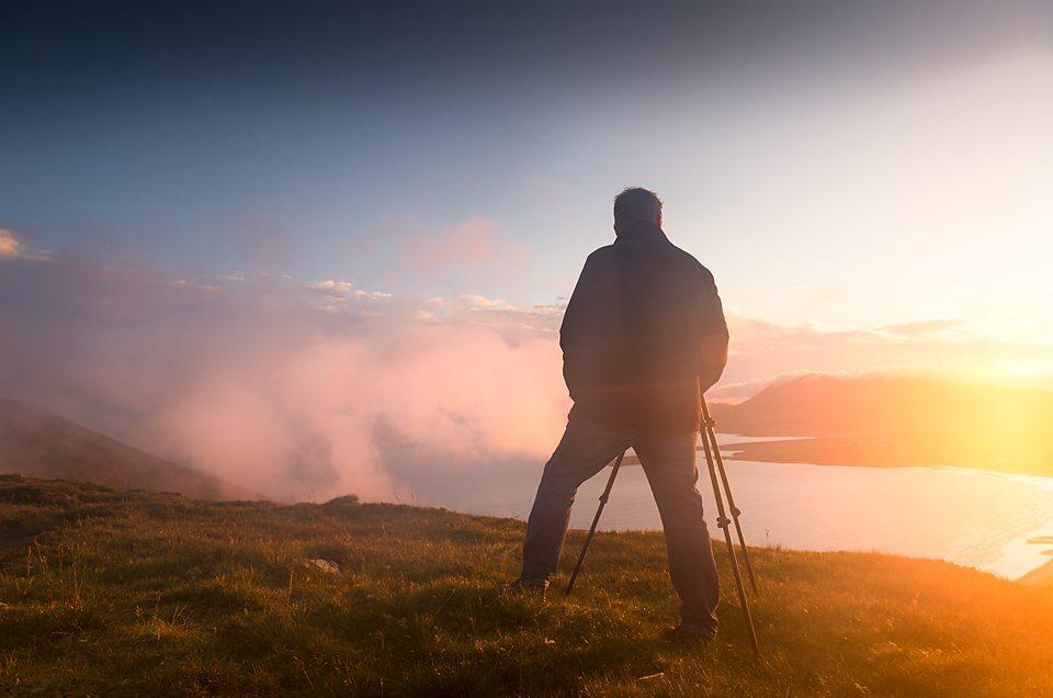 Man on Achill Island mountain