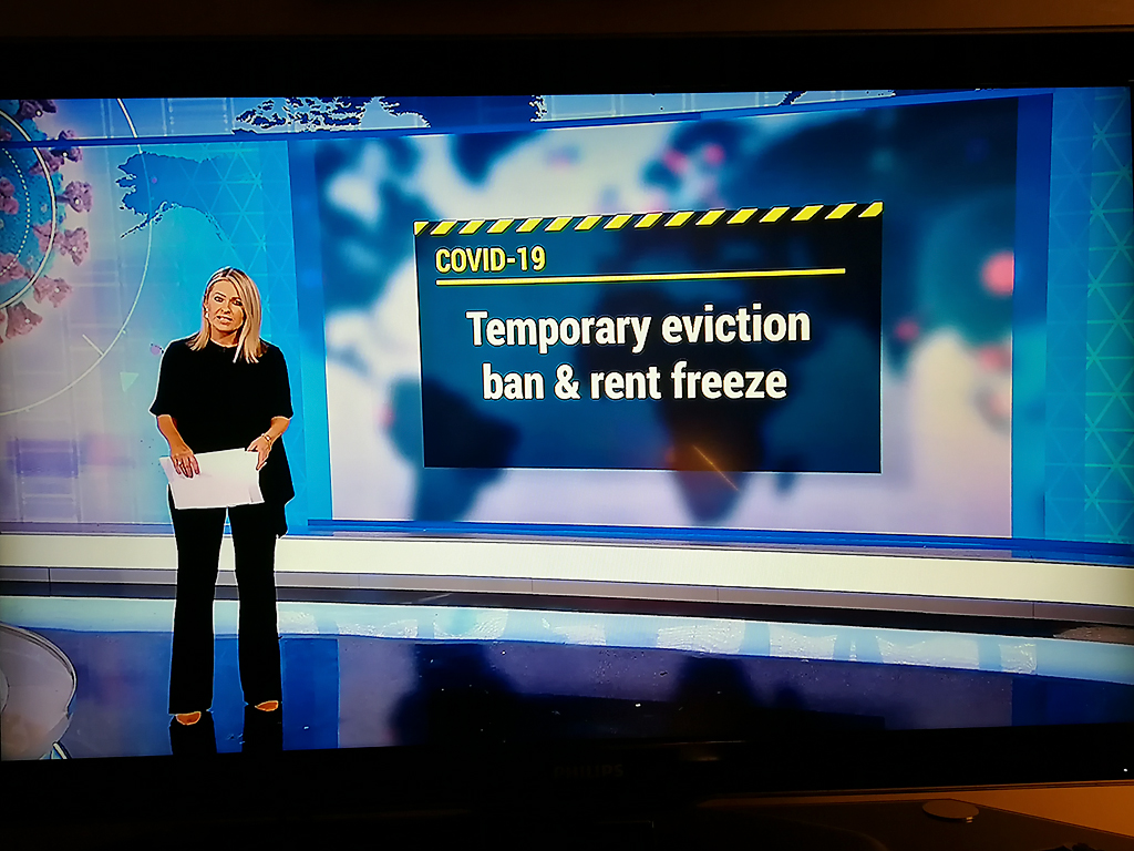 The RTE news on TV